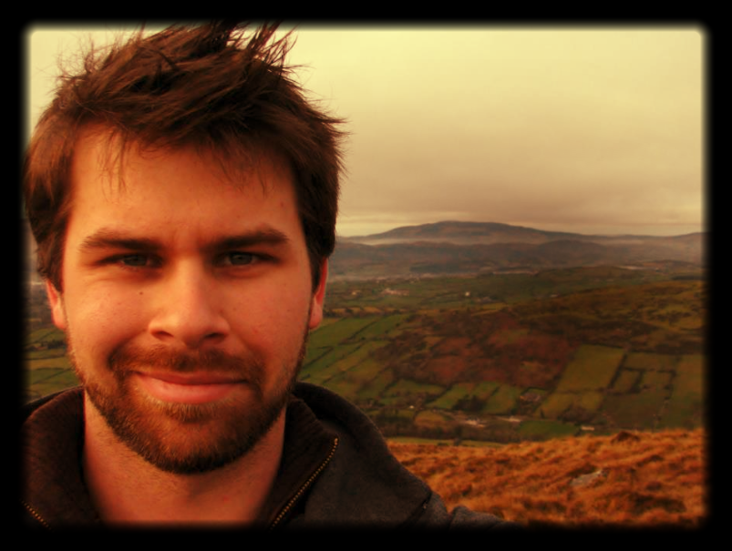This is Michael trying to blend into the Irish countryside.