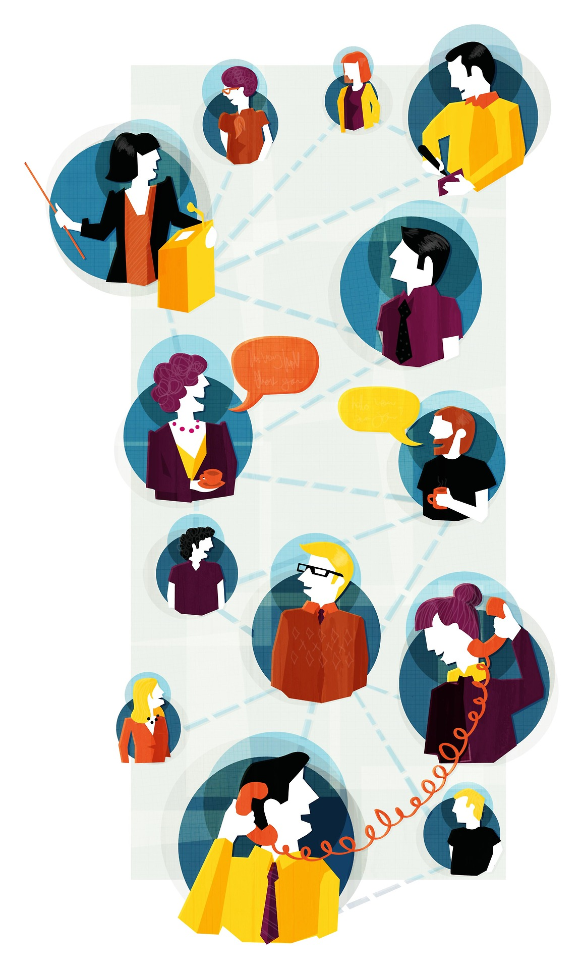an Illustration for Professional Manager magazine about networking