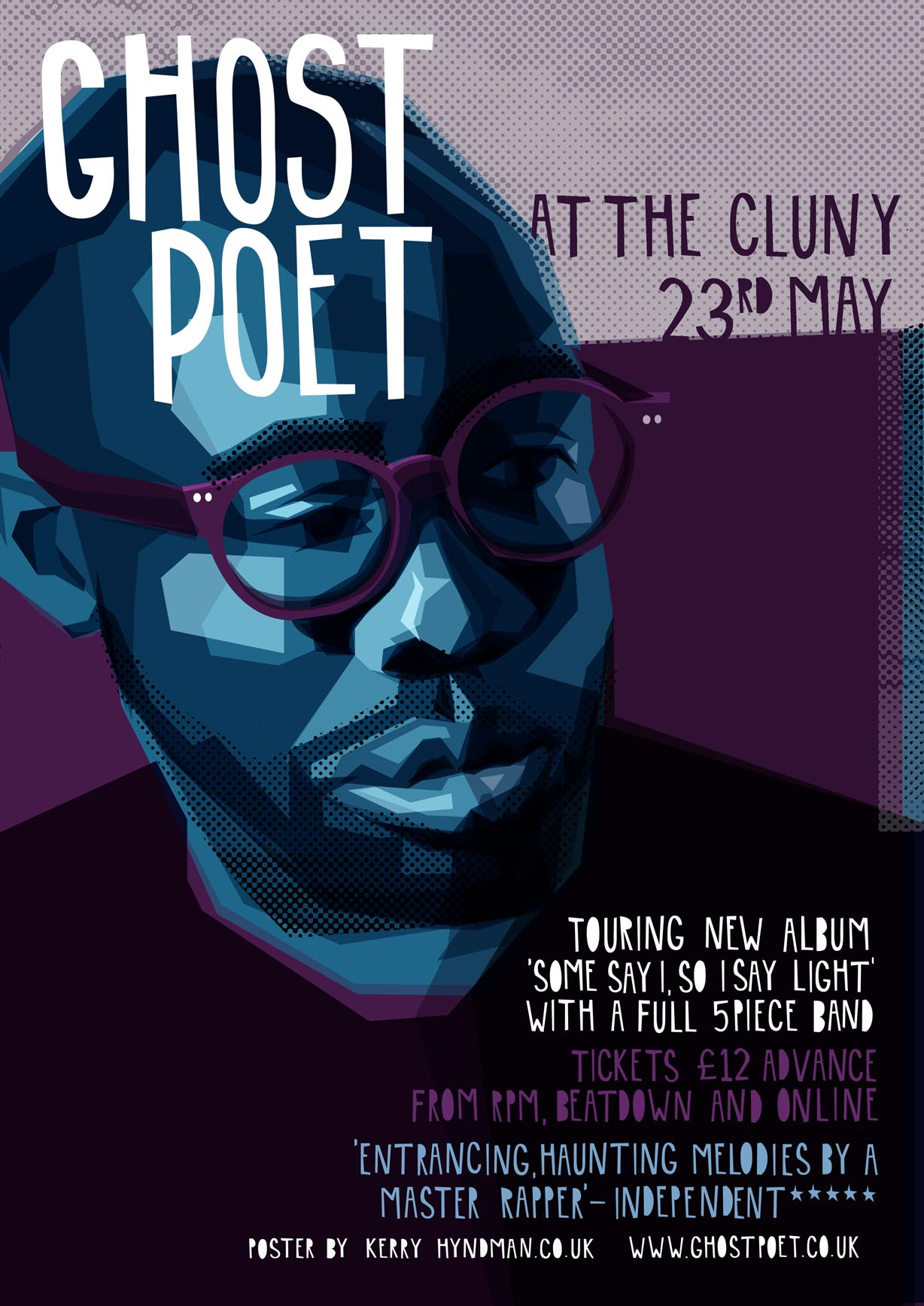 New gig poster for Ghostpoet's upcoming Newcastle show.   You can find out more and buy tickets  HERE .   and check out his music  HERE .