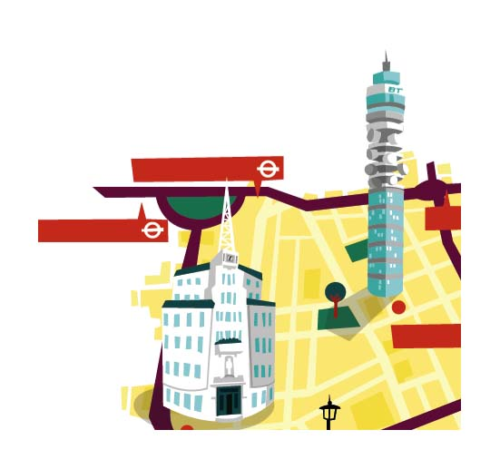 I'm currently working on a series of London maps. Here's a little sneaky peak…