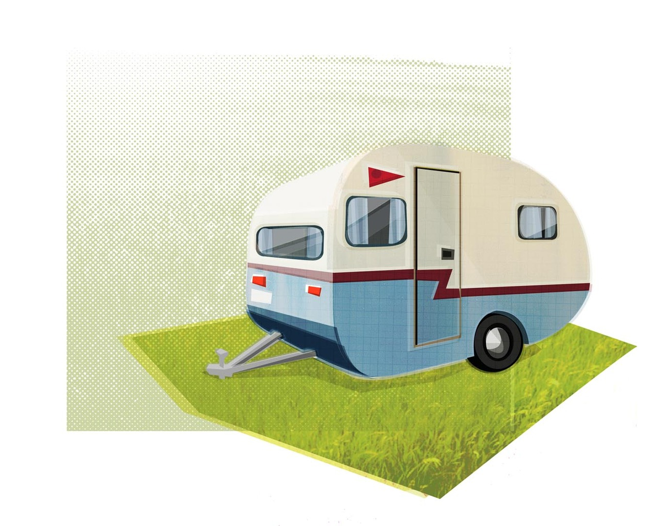 caravan illustration
