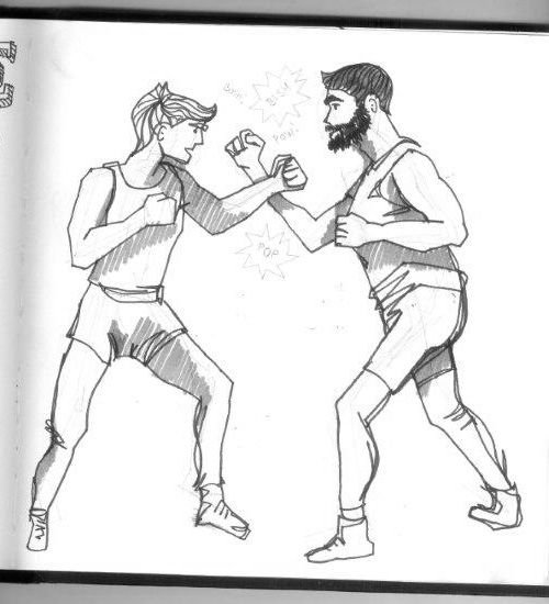 recent sketch of some vintage boxers