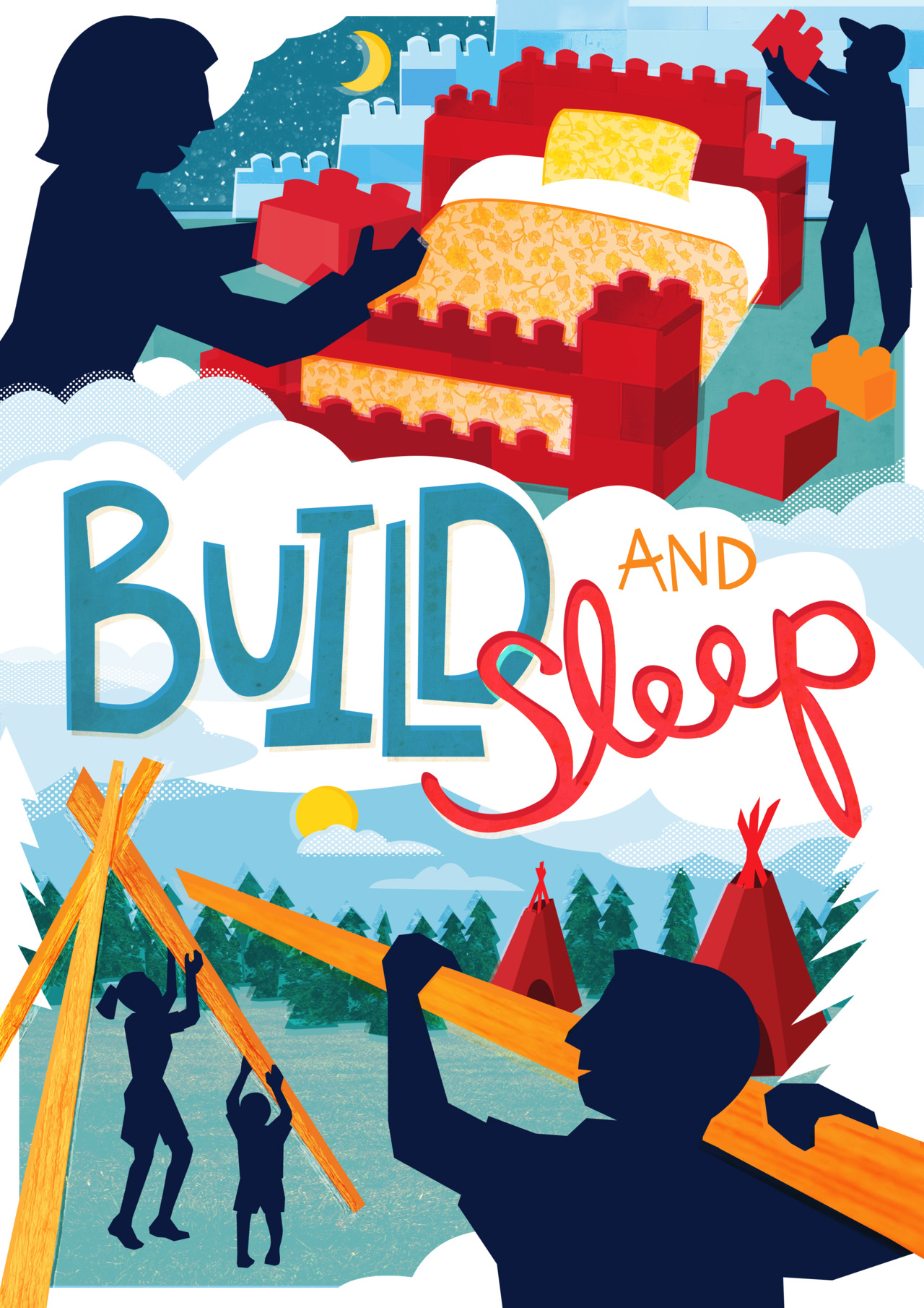 Last December, I went to Blackpool with YCN to illustrate at a conference for Merlin. While there we were asked to help them visualise their ideas, and aftwards we worked up their ideas into a finished poster - Above is my poster for an idea my group had where families build their own bed or overnight stay.