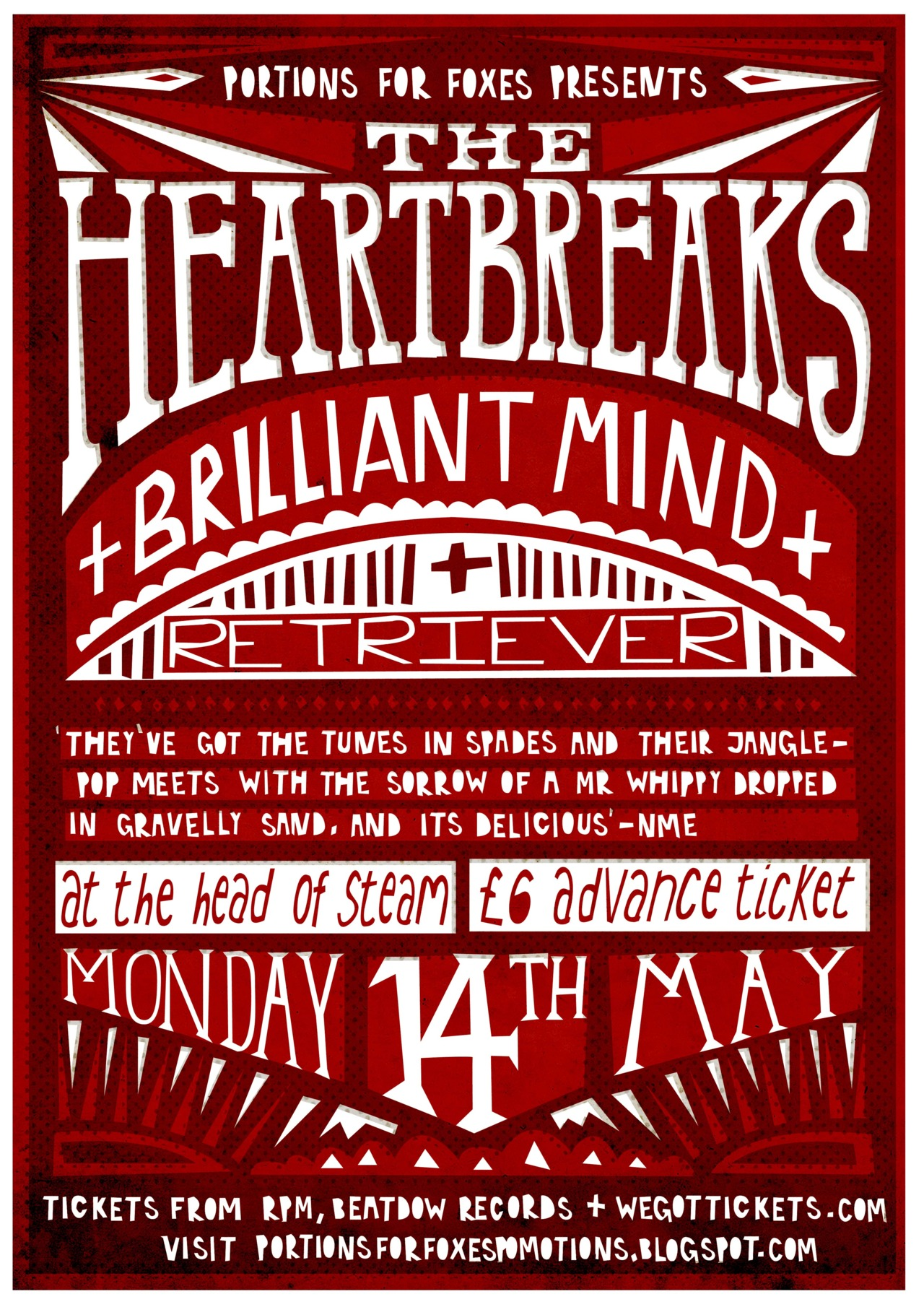 Here's a recent gig poster that I did for The Heartbreak's Newcastle show. You can find out more info  HERE