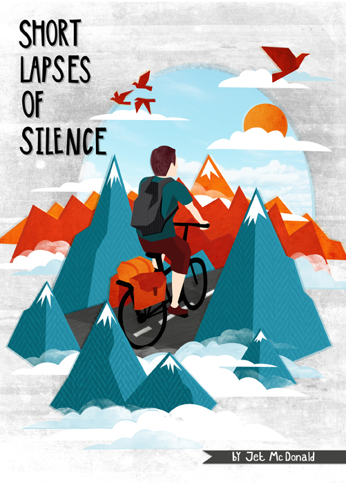 I was recently asked by  Boneshaker  magazine to create an illustration for Issue #7 to accompany an article by  Jet McDonald . The article included reference to a trip where Jet found himself enjoying 'short lapses of silence' while cycling on a plateau through the Turkish mountains. In contrast to this memory he also talks about the busy, hectic and noisy experiencing of cycling in a city where people seem preoccupied with jumping red lights and listening to music rather than enjoying the simplicity of the ride. It was these images that I chose to focus on in the spot illustrations.