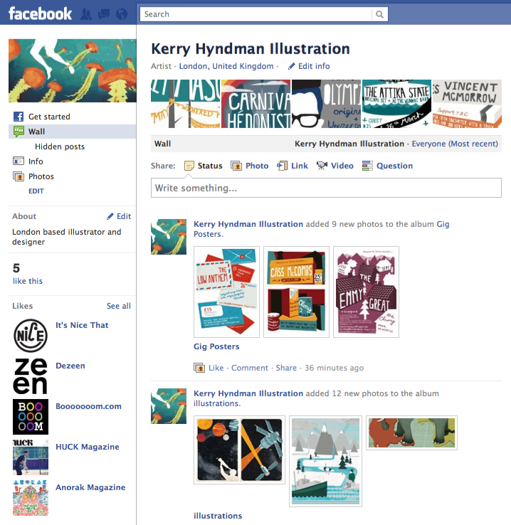 I've just created a facebook page: facebook.com/kerryhyndmanillustration If you like my work why not pop over to my new facebook page a click the LIKE button! Ta very much!