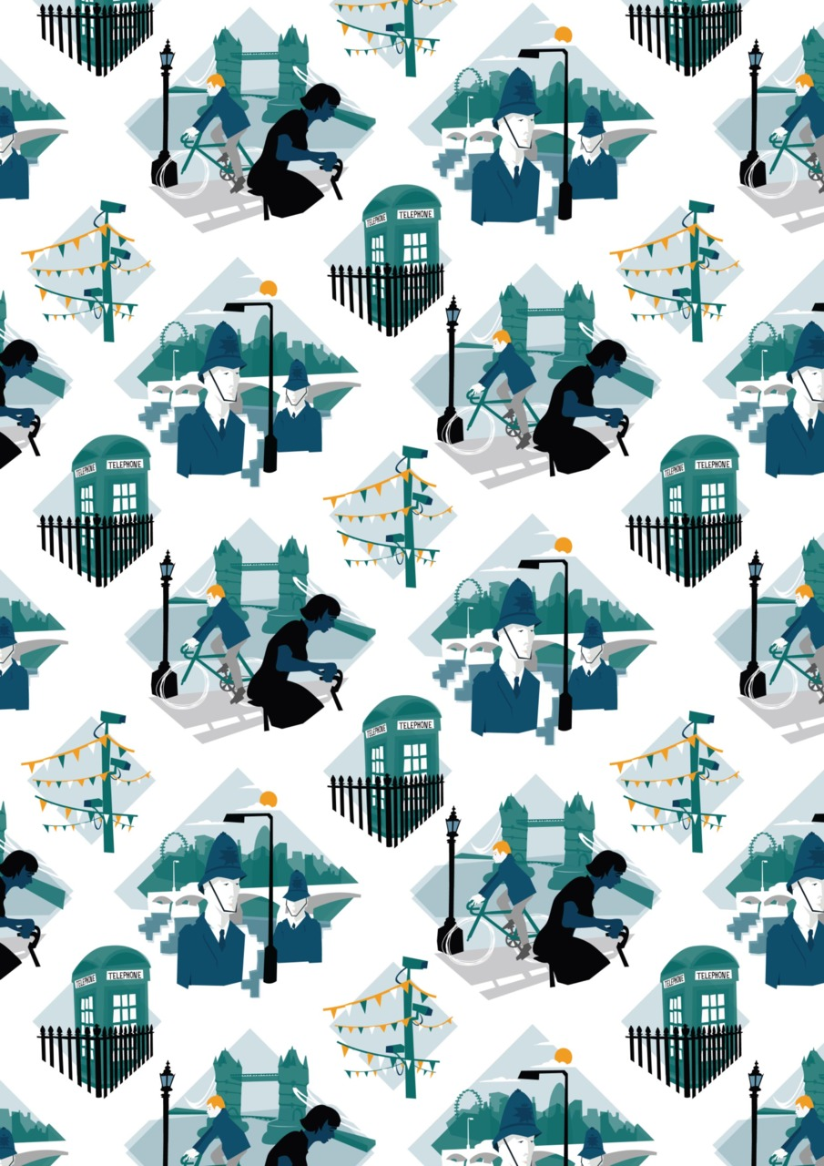 I've just sent my London pattern illustration off to be digitally printed on fabric. The design will be available at the  Decorex International  interior design festival as an upholstery fabric for furniture designed by  Tercel Design .   Also coming to my  SHOP  soon will be some london pattern tea towels! I'll get making them as soon as the fabric arrives and post photos soon!