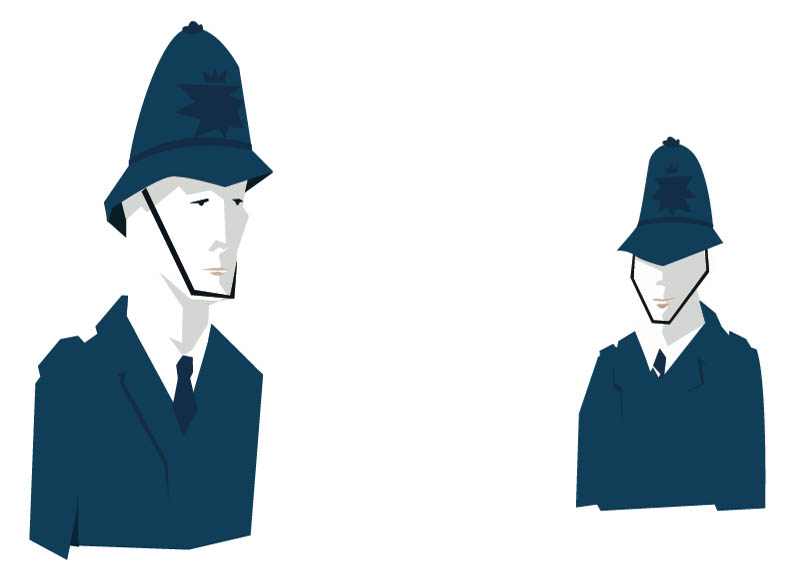 Here are some policemen. They are part of a larger london pattern I'm working on.