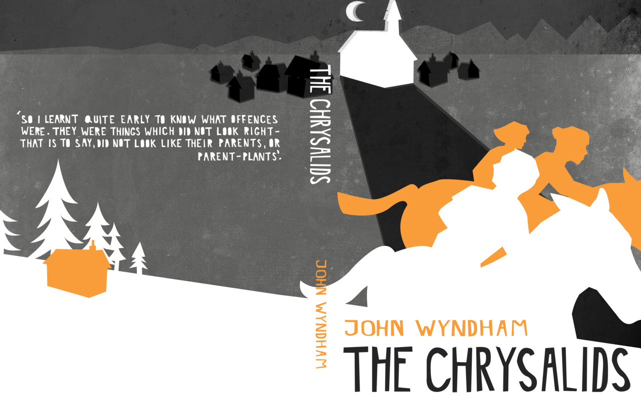 I've been working of a series of book covers for John Wyndham books. Here is my latest design for 'The Chrysalids'. You can see my 'Day of the Triffid' illustration on my website.