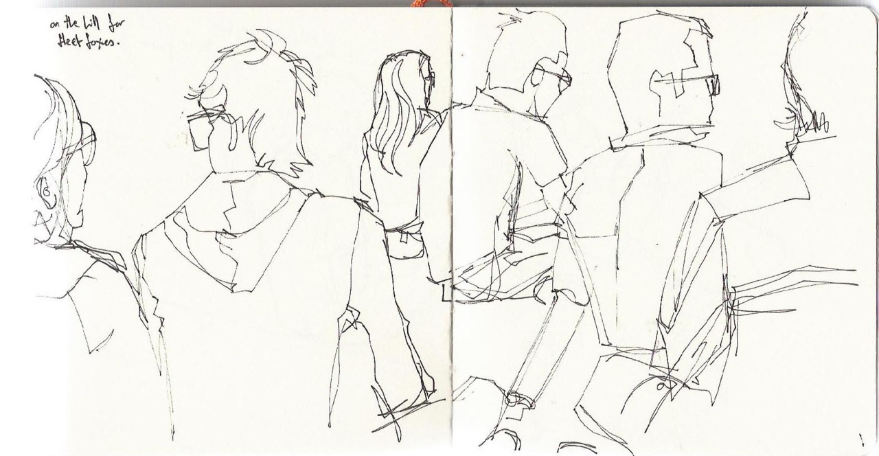 Here are a few sketches I did whilst in Barcelona at the Primavera Sound festival. I didn't manage to do many crowd sketches, they are mainly just of my friends laying around on the grass!