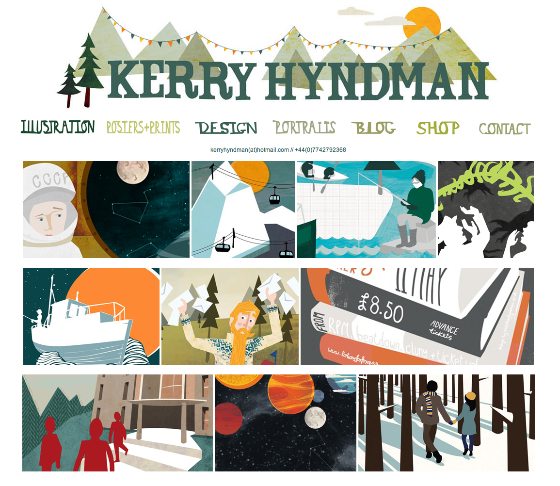 I've just finished updating my website with lots of new work and I've also created a brand new front page. www.kerryhyndman.co.uk