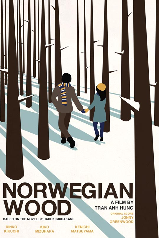 This is a poster I have designed for the new film 'Norwegian Wood'. If you like it please vote for my poster on the Don't Panic competition site! http://bit.ly/gOToFn thank you!