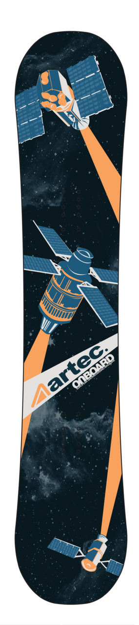 Satellite snowboard design I've been working on over Christmas, for a design comp run by Artec Snowboards and Onboard Magazine.