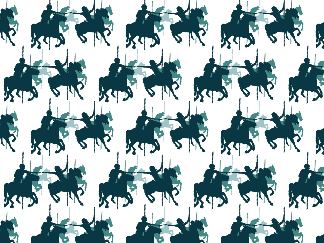 I've been dabbling in creating patterns. This one is based on my 'wild horses couldn't tear us apart' screen print design.