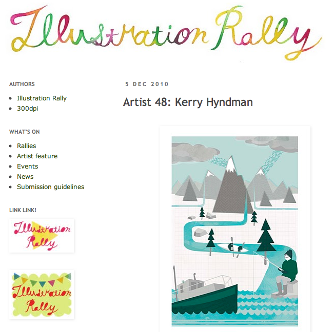 The lovely Illustration Rally have featured my work on their blog. They have written some very nice words too, you can read them  HERE .