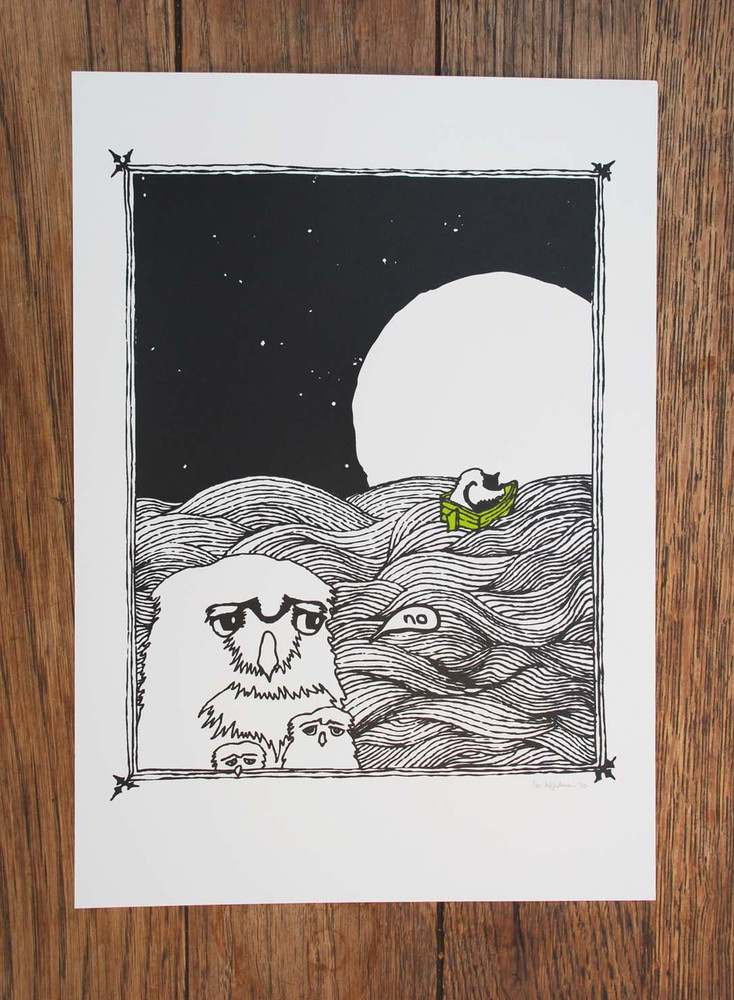 New 'Owl and the Pussycat' Screen Print now available on my SHOP.  This print is based on the Poem written by Edward Lear in 1871.