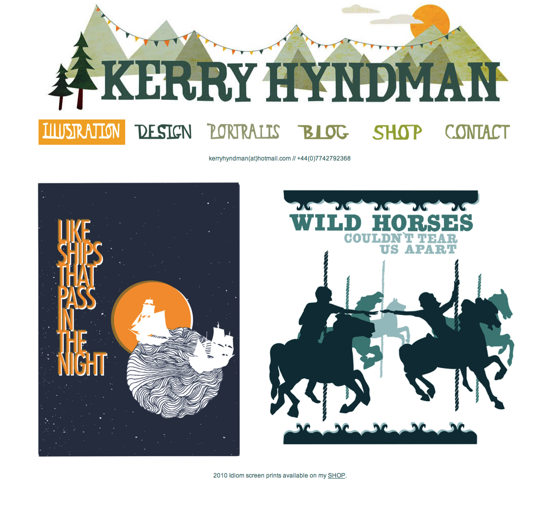 NEW WEBSITE!   I've just finished uploading it. check it out  www.kerryhyndman.co.uk
