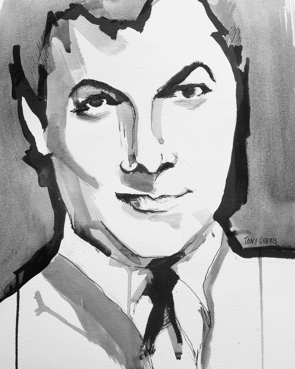 I have started a new project. Its called Oblogtuary. Collaborating with writers, we are producing an obituary blog featuring portrait illustration. This week we have featured Tony Curtis. Here is my portrait of Tony and a few sketches. If you are interested in getting involved please email oblogtuary@hotmail.co.uk