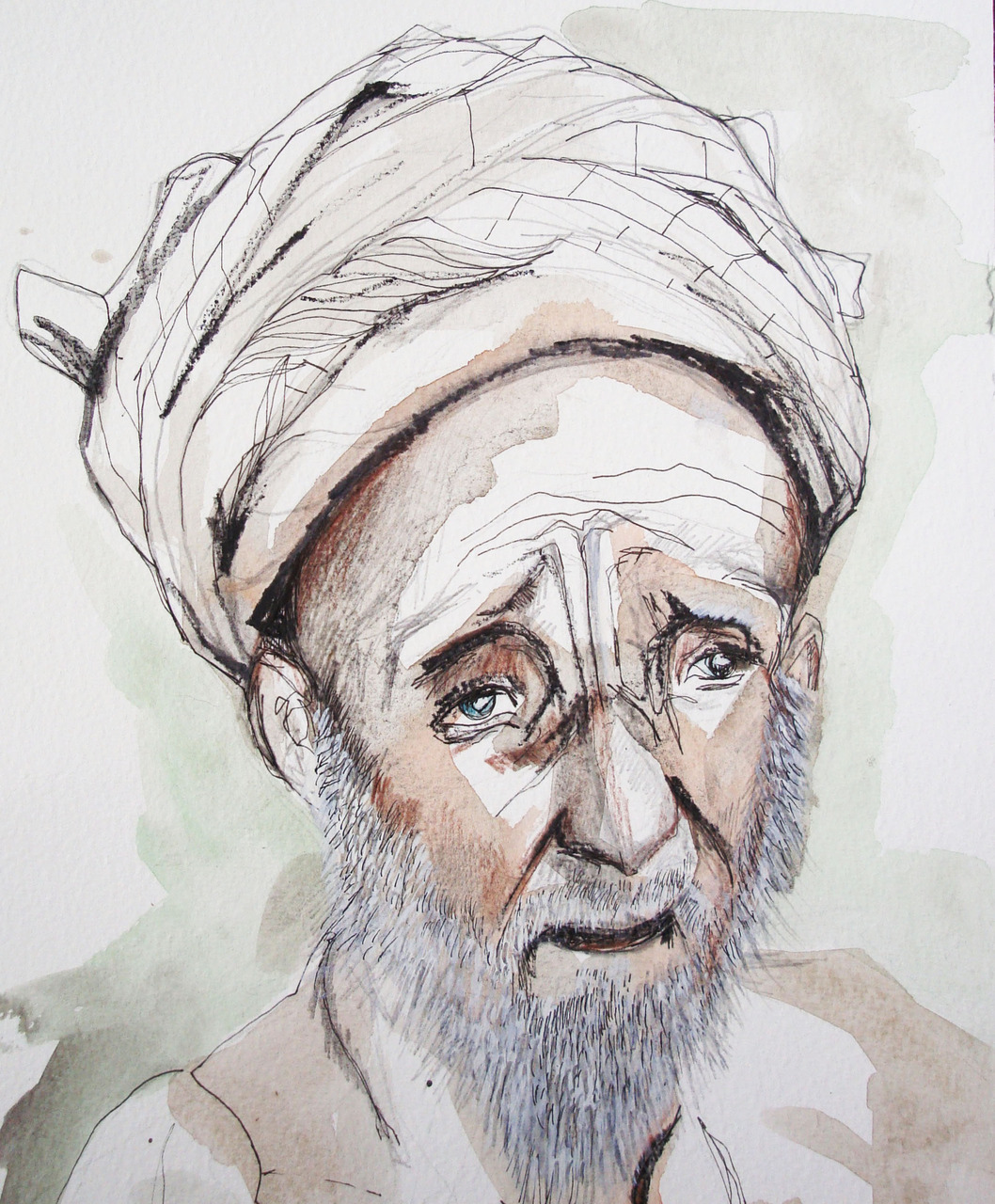 PORTRAIT A WEEK: victims of the flooding in Pakistan. 20 million people are thought to have been affected by the floods that occured 3 weeks ago. The country is still suffering and in need of international aid.   visit   http://www.dec.org.uk/   to help!   here are more sketches of people affected by the disaster.