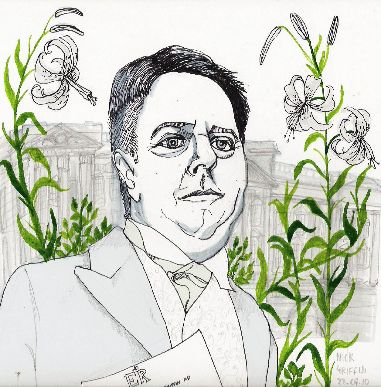 Portrait A Week: Nick Griffin the leader of the BNP after he got refused entry from the Buckingham Palace garden party.