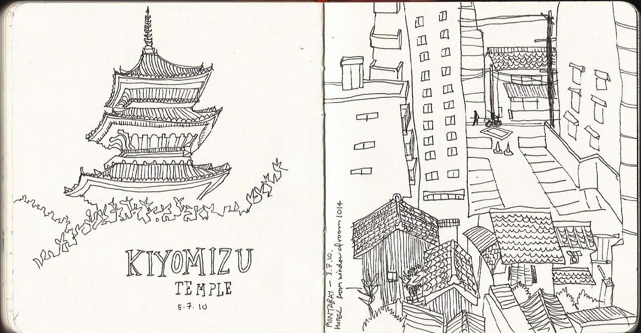 Recent sketches from my trip to Japan.