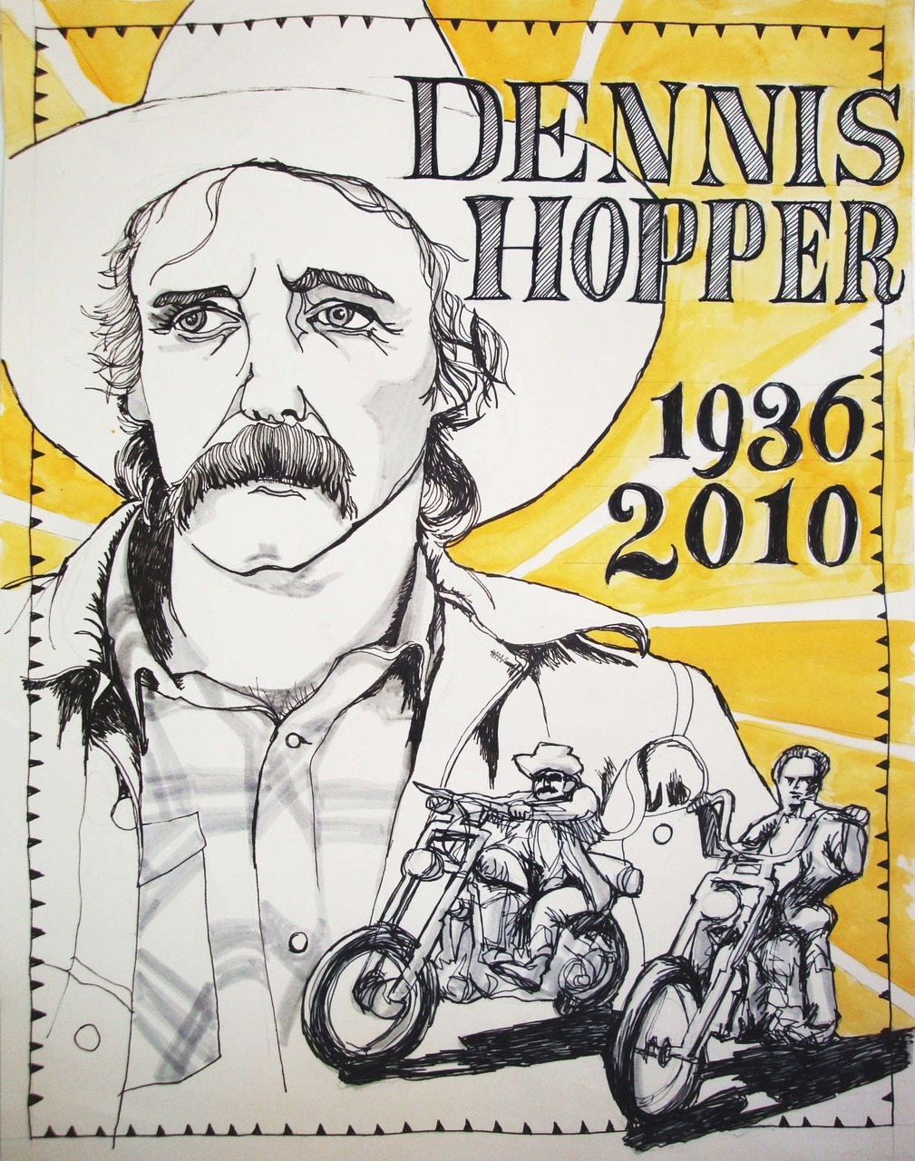 My portrait this week is Dennis Hopper. Who died on may the 29th.