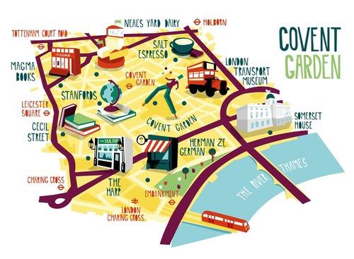 Touristic Map Of London.Maps Kerry Hyndman