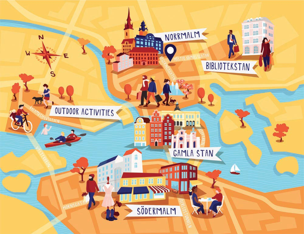 Stockholm Map Kerry Hyndman