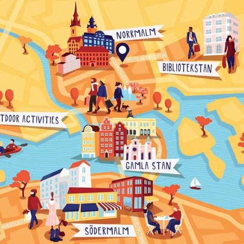 Maps Kerry Hyndman – Stockholm Tourist Map