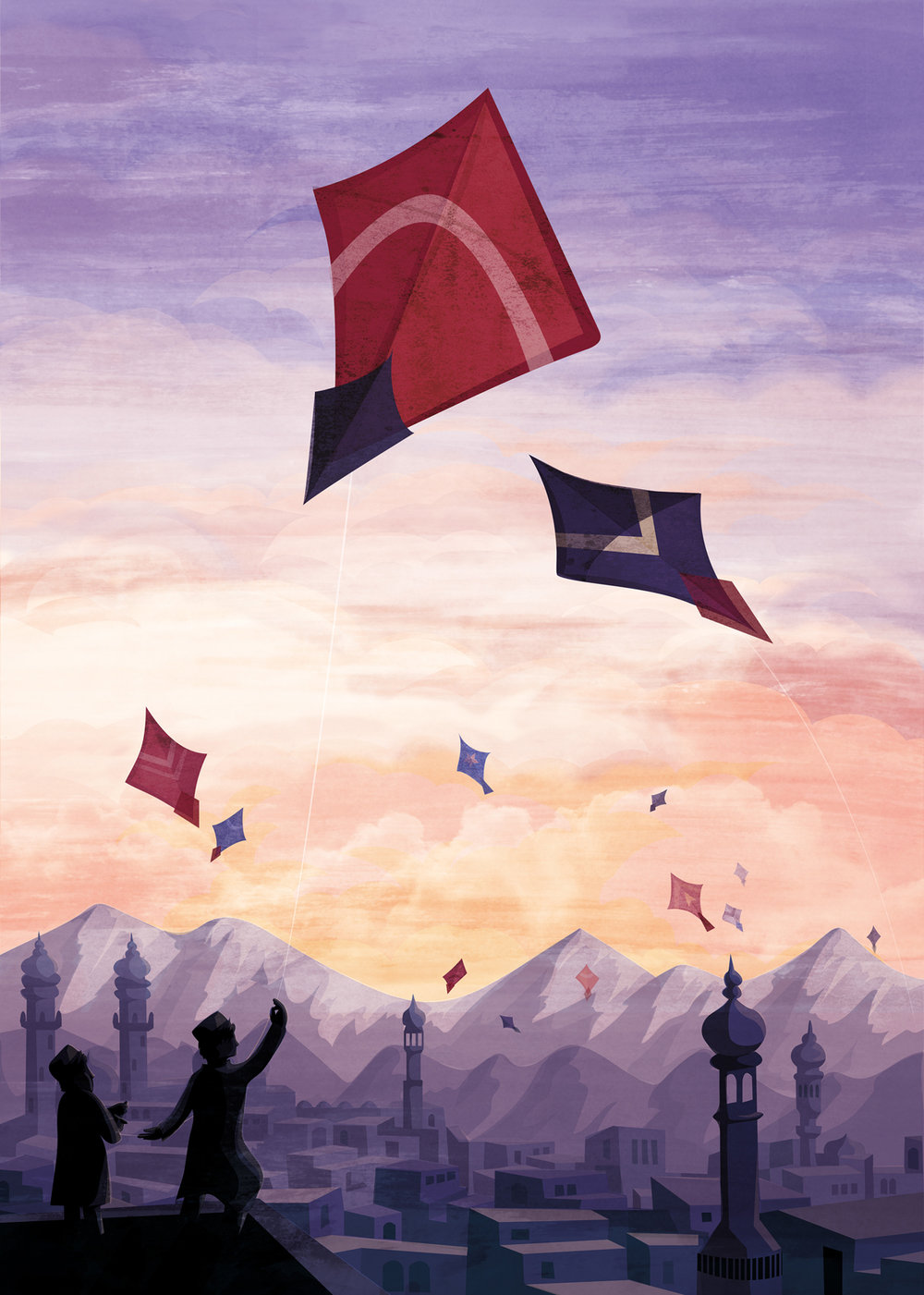 The Kite Runner book cover illustration - BLOOMSBURY