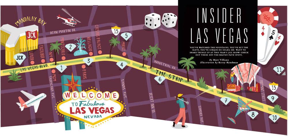 Las Vegas map illustration - JCK MAGAZINE