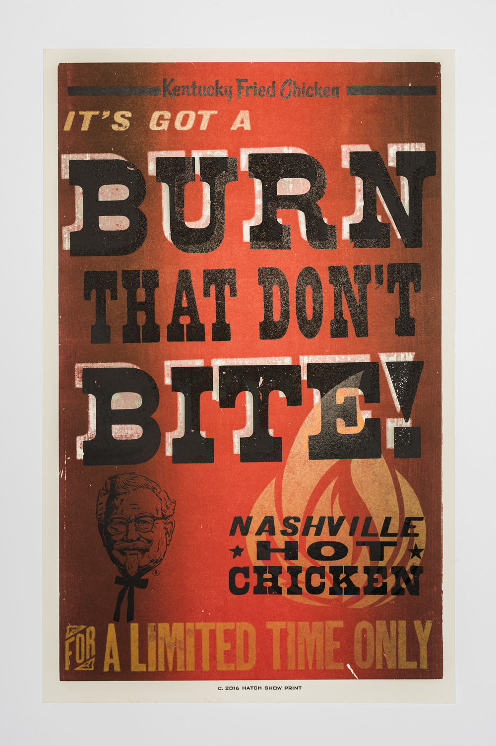 Hatch Show Print + KFC — Lloyd Eugene Winter IV
