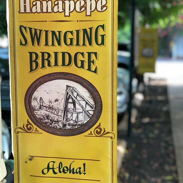 Hanapepe such a small town with BIG personality #hanapepe #swingingbridge #hanapepeswingingbridge #missingkauai #kauai