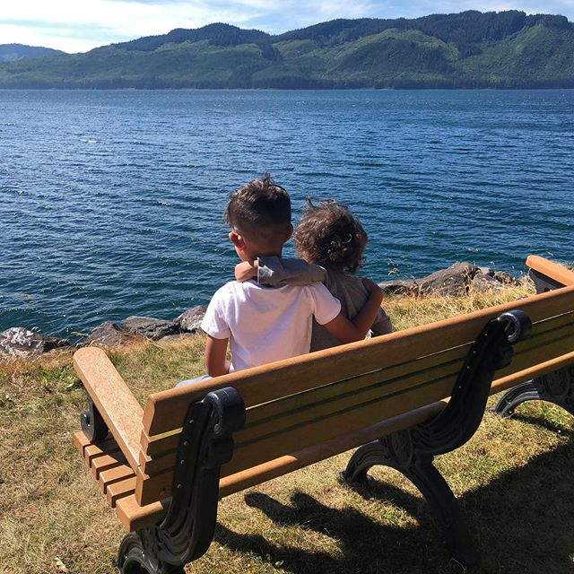 Because when you stop and look around this life is pretty amazing- dr Seuss #brotherlylove #siblings #icystraightpoint #alaska #travel #fun #memories #hoonah #family #siblingsgoals