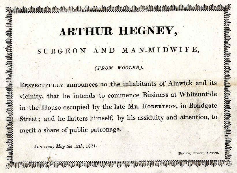 Arthur Hegney Surgeon and man-midwife