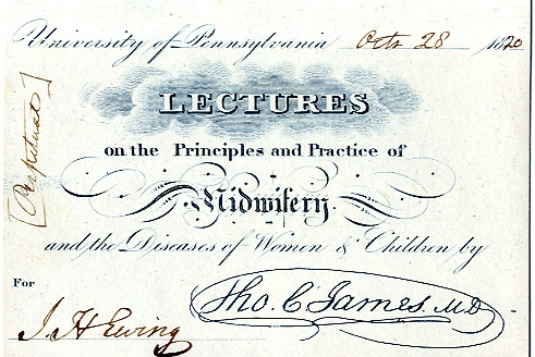 pennsylvania medical lectures 1819/20