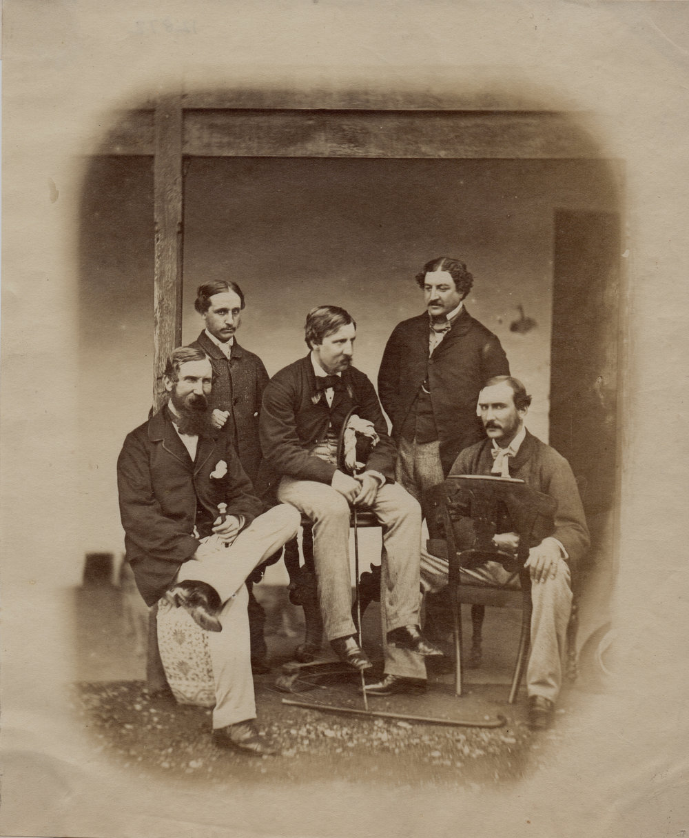 Felice Beato Group of five British officers
