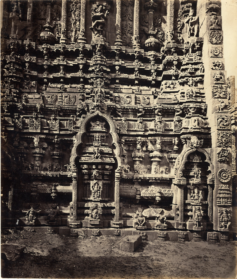 Capt. Lyon Tarputtri Temple, north facade of ruined Gopuram