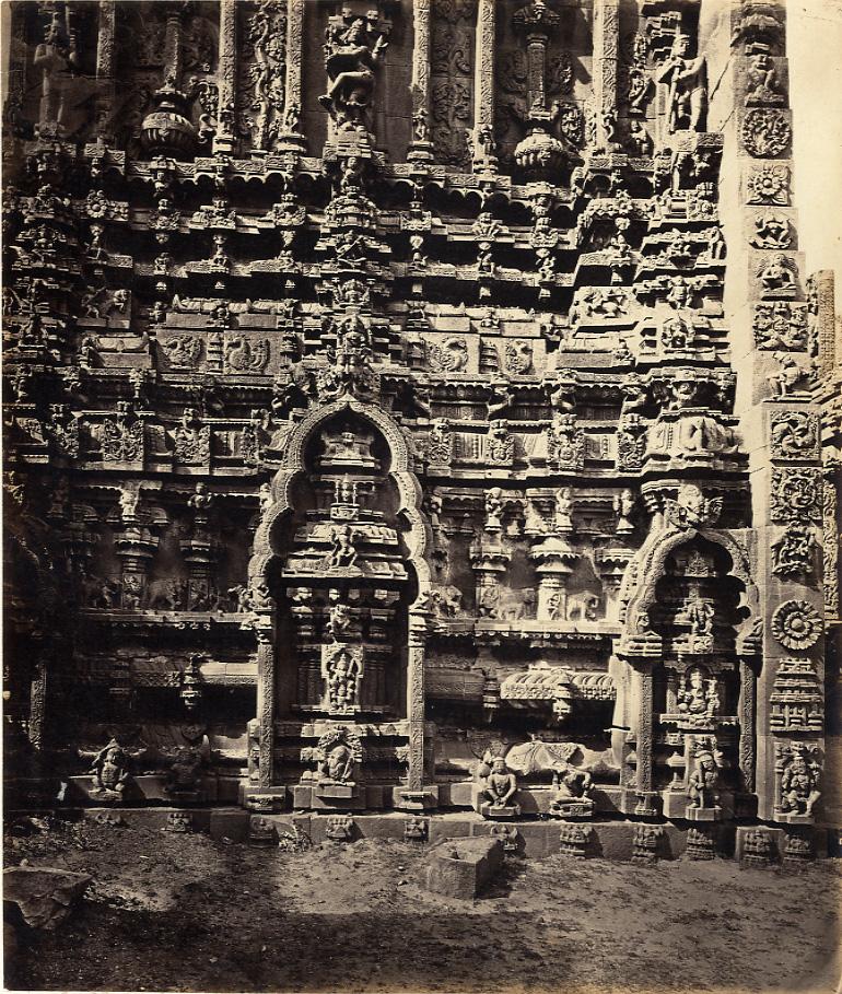 Capt. Lyon Tarputtri Temple, north facade of ruined Gopuram
