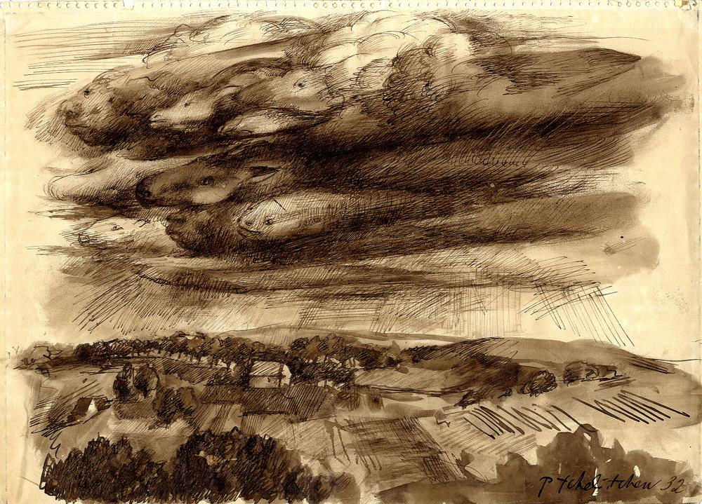 [Metamorphic clouds] 1932 £5000