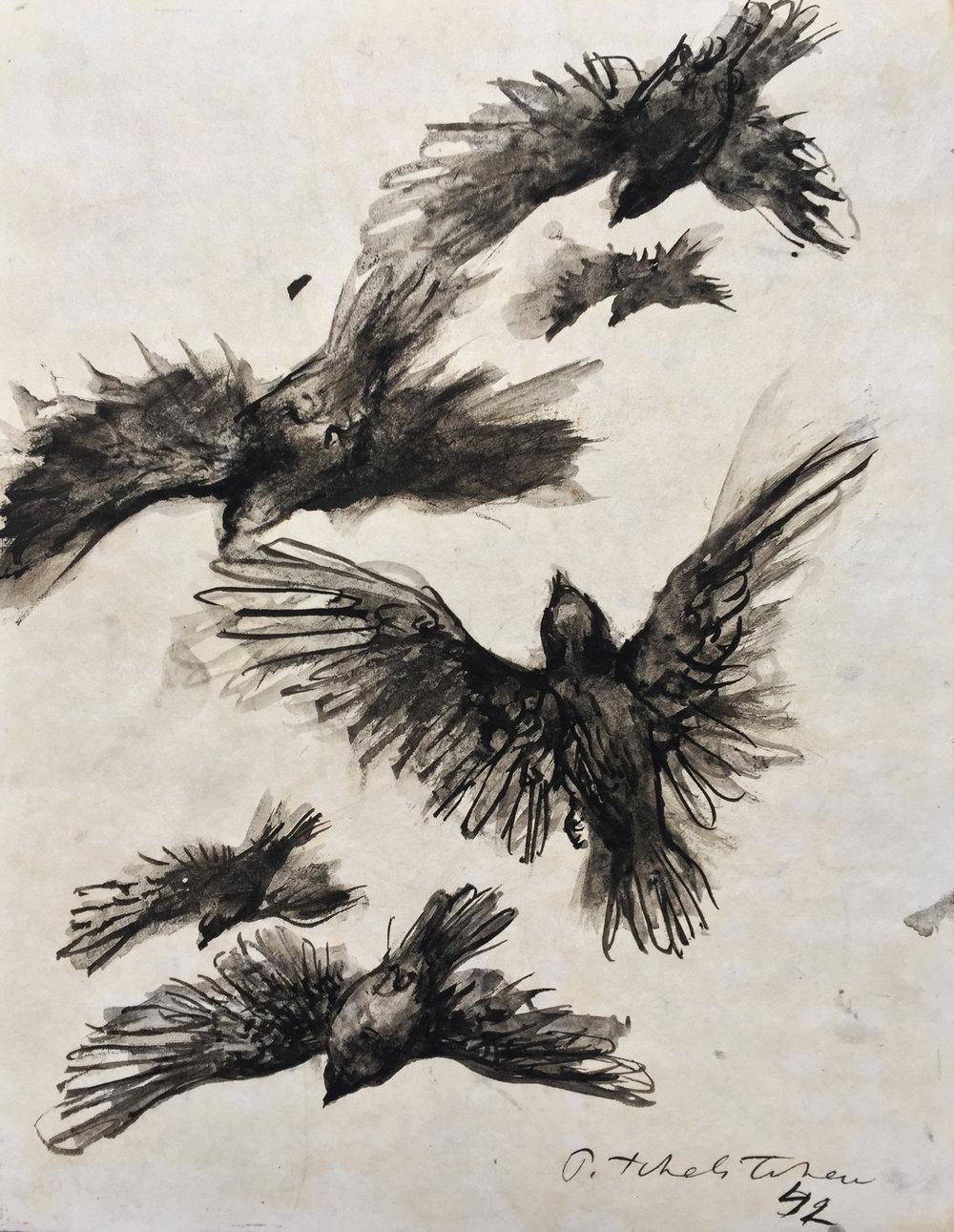 birds in flight 1932 £3750