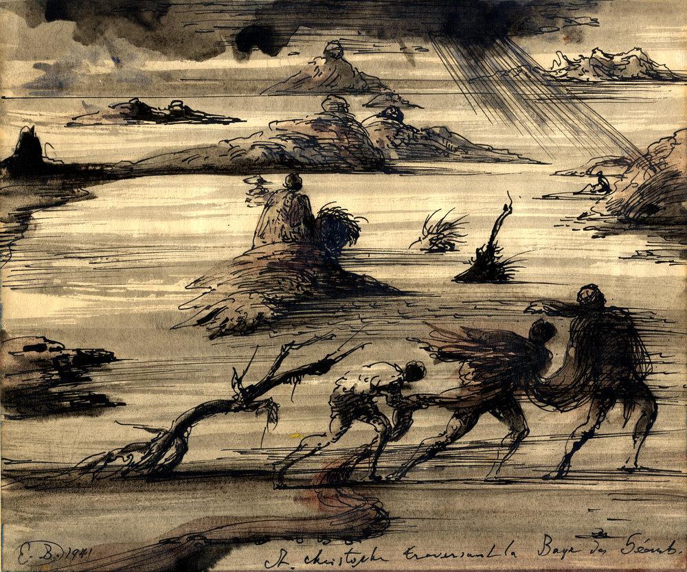 St Christophe traversant la Baye