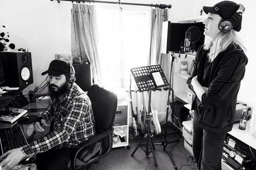 "Jade Starr & Luis Rojas recording ""it's over"""