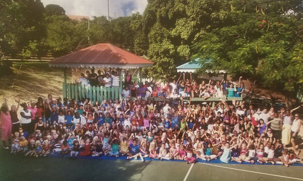 All School Group Photo, 2010. Taken at what is now our solar awning space, this shot includes VIMSIA's first high school graduate. Since then we have sent graduating classes of up to 17 students off to take on the world!  Time flies when you're having fun!
