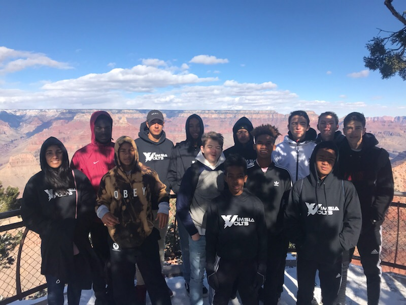 VIMSIA Soccer Team at the Grand Canyon