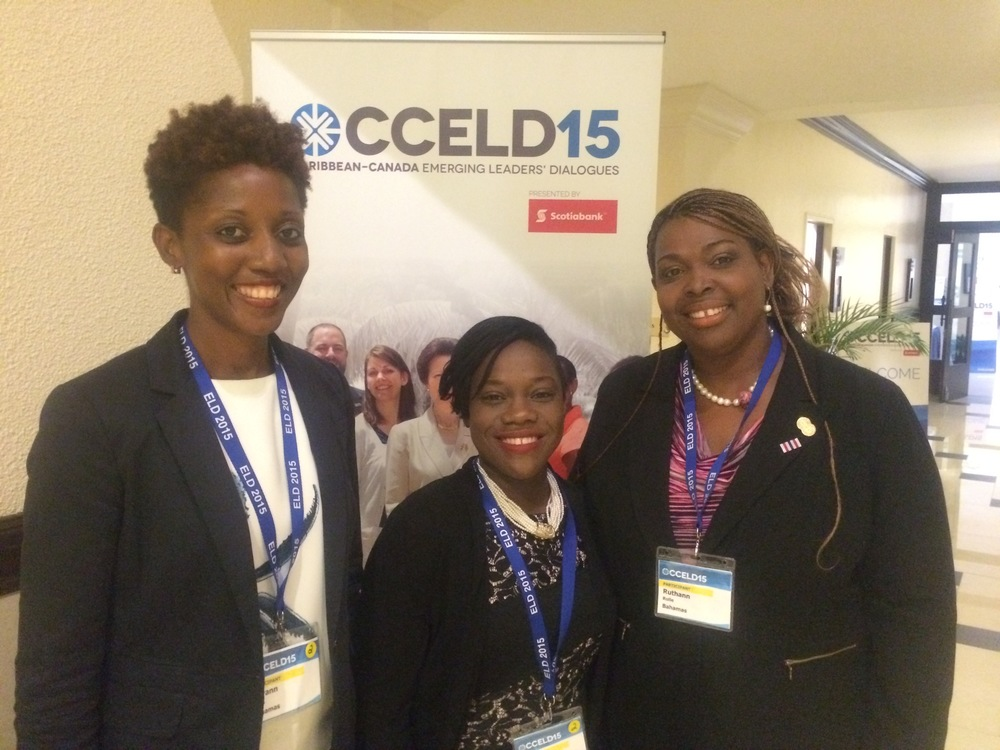 Royann Dean (left) along with her sister Bahamian colleagues.