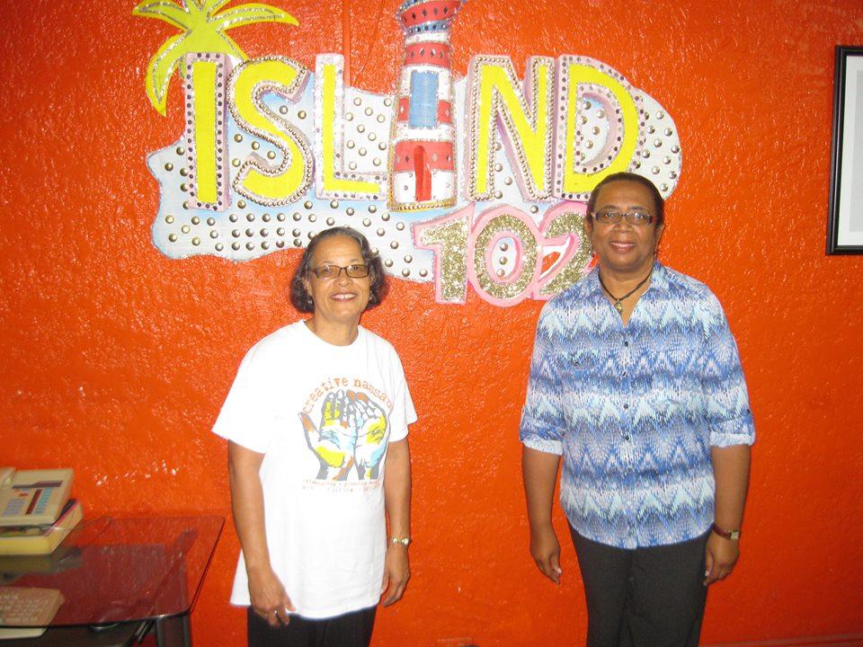 Pam aand Patti Island FM sign.jpg
