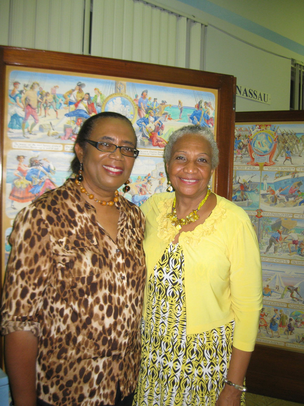 Glinton-Meicholas (left) with Bahamas Historical Society President, Andrea Major