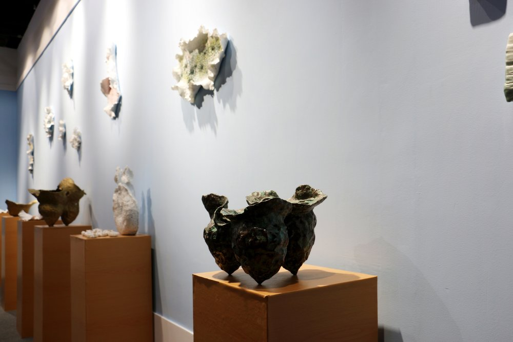 Works on display in The Bahamas' booth at the International Ceramics Fair.jpg
