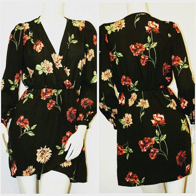 #classic wrap dress featuring #fall #floral pattern #workwear #workdress  #fashion #floralfashion #style #shopping #womensclothing #fashiontruck #mobileboutique #shoptherunaway #womensclothing #fashionbloggers